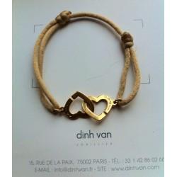 Bracelet Double Coeur DINH VAN GM Or Jaune 18Ct