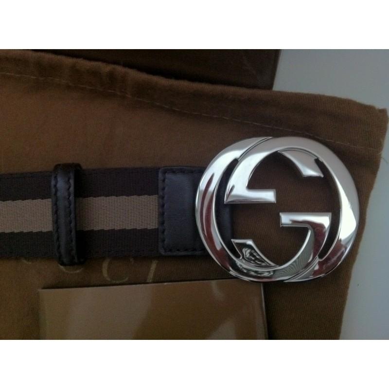 ceinture avec double boucle argent