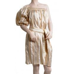 Robe dorée asymétrique