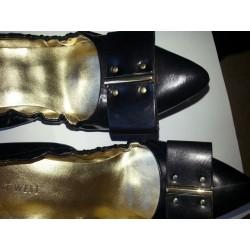 Nine West Thena Leather Stretch Flats